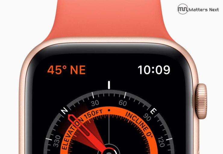 compass app in apple watch